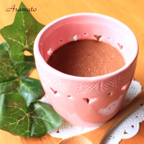 Rich Chocolate Pudding❤with a Single Chocolate Bar❤