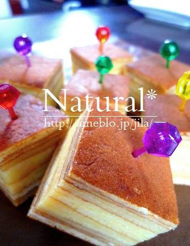 Easy Baumkuchen in a Frying-pan