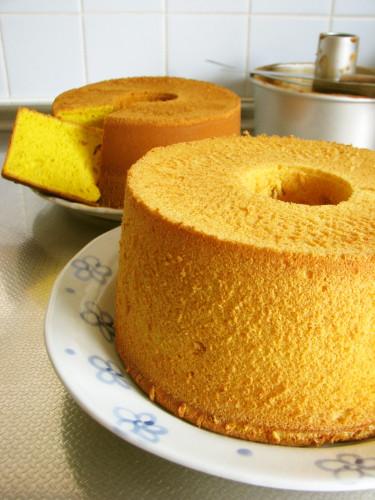Kabocha Squash Chiffon Cake