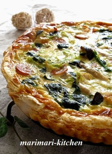Spring Quiche with Spring Cabbage & Fresh Onions