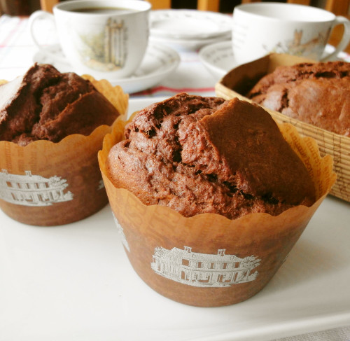 Delicately Sweet Chocolate Banana Muffins