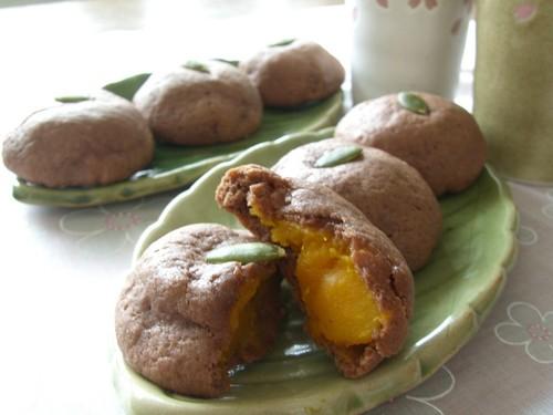 Chocolate Manju with Kabocha Filling