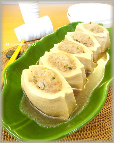 Healthy Simmered Koya Dofu with Tofu and Meat Filling