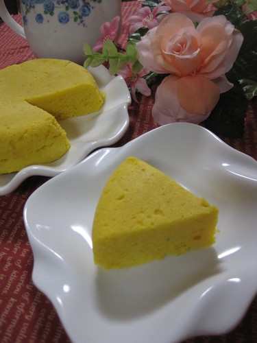 Easy Kabocha Squash and Okara Cheesecake