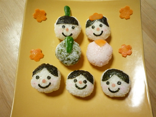 Children Love These! Decorative Hina Doll Temarizushi