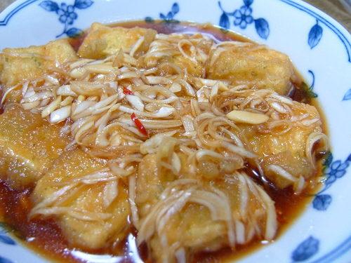 Tofu Tempura with Thick Nanban Style Sauce