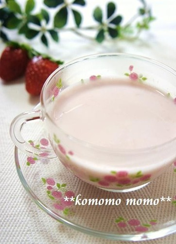Comforting Strawberry Milk with Condensed Milk