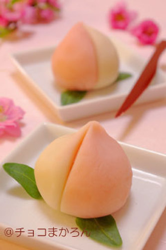 Peach Nerikiri (Sweet Bean Paste Confections) - Easy Wagashi to Make for Dolls' Festival
