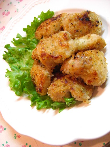 Pan-fried Chicken with Consommé Breadcrumbs