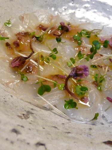 Japanese Flounder Sakura Carpaccio