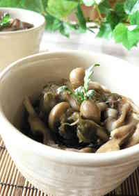 Low-Calorie! Refreshing Mushrooms and Mekabu