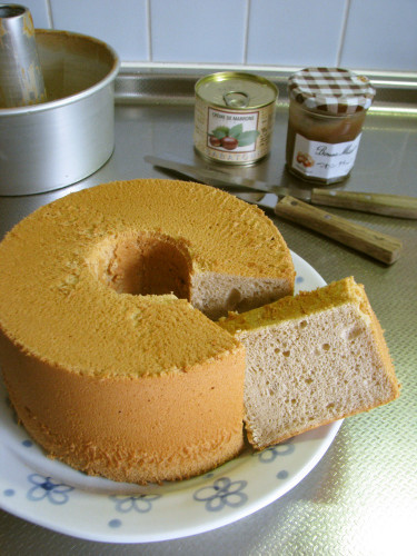 Marron Chiffon Cake with Creme de Marron