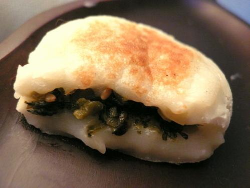 Chewy Potato Mochi ★ Takana Pickles & Cheese + Chicken Soboro