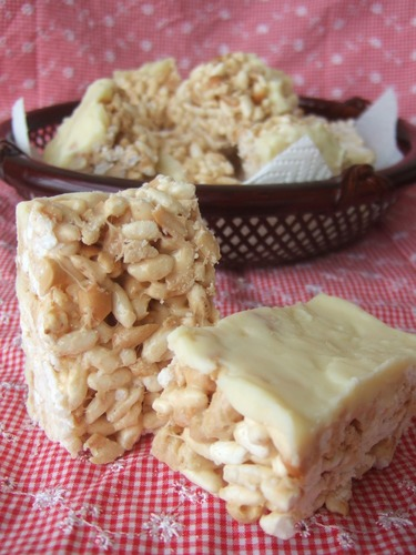 Rice Cereal Bars with Peanut Butter