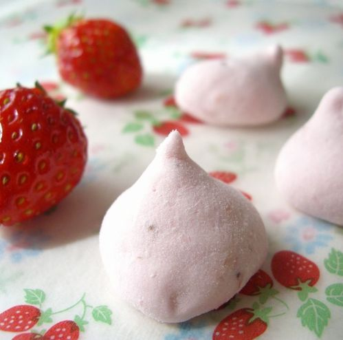 No Egg Whites Used Chunky Strawberry Marshmallows