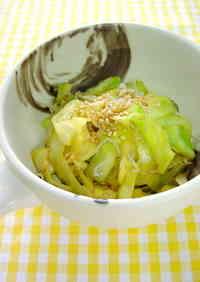 Cabbage & Baby Sardine Oyster Stir Fry
