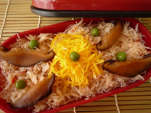 Steamed Crab Rice Hokkaido Bento-style! Good for Festive Occasions