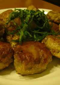 Pork Tsukune (Patties) Packed with Burdok Root