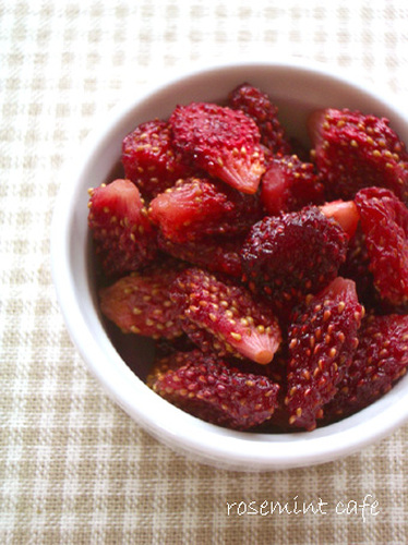 Homemade Dried Strawberries