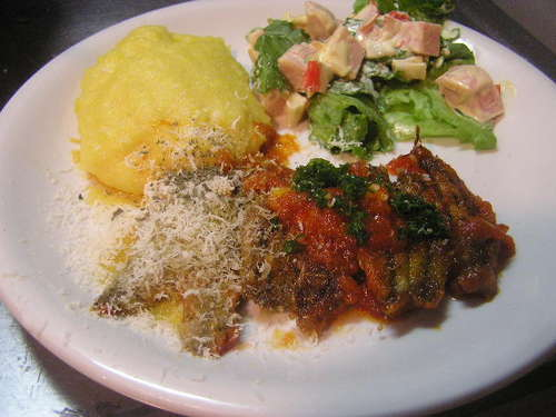 Baby Sardine & Tomato Sauté with Polenta
