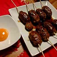 Yakitori-Style Tsukune from Ground Pork