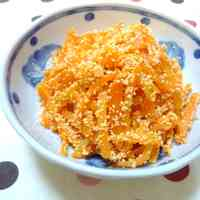 Simple Poppy-Textured, Tasty Tarako and Carrots