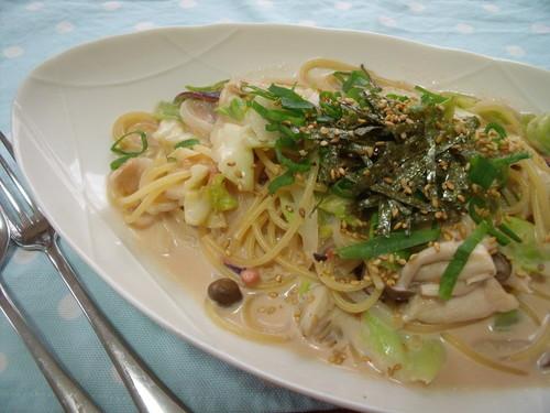 Salt Preserved Squid Pasta