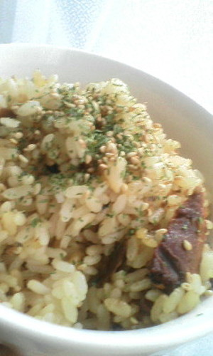 Easy Mixed Rice with Canned Kabayaki-Style Pacific Saury