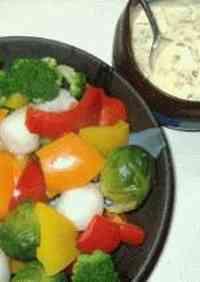 Japanese-Style Tartar Sauce on Warm Salad