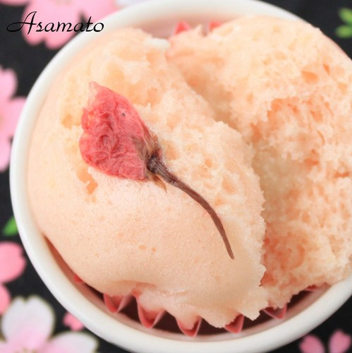 Steamed Bread with Cherry Blossom