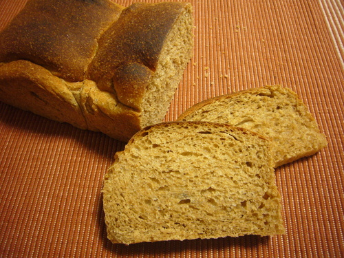 100% Whole Wheat Oil-Free Bread