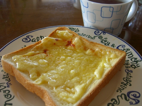 Sweet! Cheese and Honey On Toast
