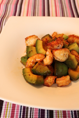 Shrimp and Avocado Stir Fry with Yuzu Pepper