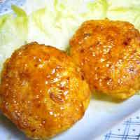 Shiny Teriyaki Tofu Hamburger