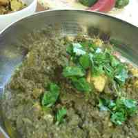 'Saag Paneer' Indian Spinach Curry