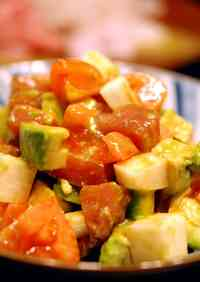 Avocado, Fresh Tuna, Nagaimo, and Tomato