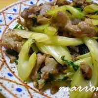 Stir Fried Celery and Pork with Oyster Sauce