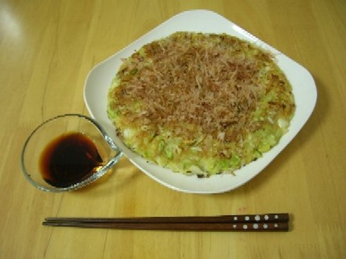 Tofu and Cabbage Okonomiyaki