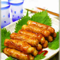 Healthy!♪ Tofu Wrapped in Sliced Pork in Sweet and Salty Sauce