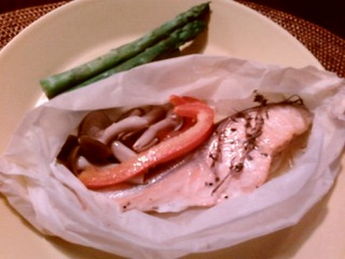 Italian Style Parchment-Wrapped Salmon