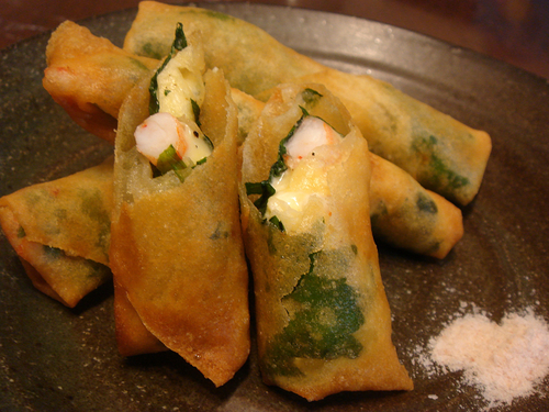 Plump Shrimp and Cheese Spring Rolls - Delicious Yakuzen Medicinal Cuisine