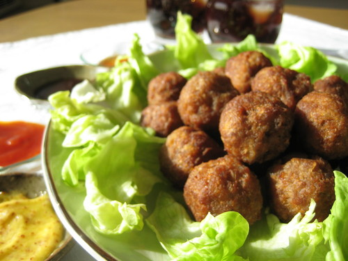 Fried Potato Meatballs