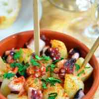 Spanish Style Octopus and Potato Appetizer