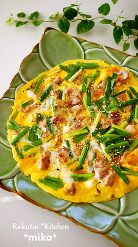 Easy Fried Egg with Chinese Chives and Pork
