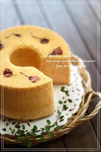 Sakura-Flavored Chiffon Cake