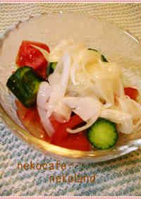 Tomato and Jabara Cucumber with Onion Dressing