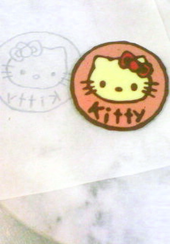 Character Cake (Chocolate Decoration Plate) Kitty
