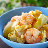 Stir-fried Prawns with Eggs