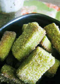 Japanese-Flavored Bread Crusts - Matcha Milk Rusk