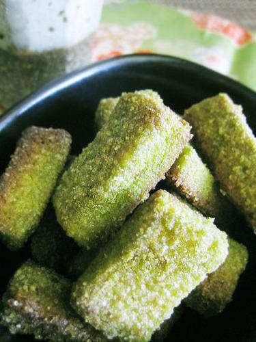 Japanese-Flavored Bread Crusts - Matcha Milk Rusk